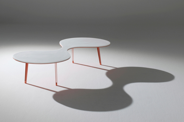 "Contemporary Coffee Table - Organic Design ""Cells Genesis"" Luca Casini Editions - Italy"
